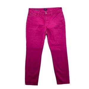 NYDJ Mid Rise Pink Denim Clarissa Ankle Jean